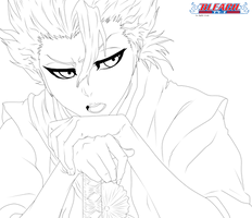 Bleach: Toshiro Hitsugaya line by aagito