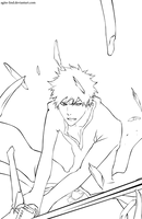Bleach 428: Ichigo lineart by aagito
