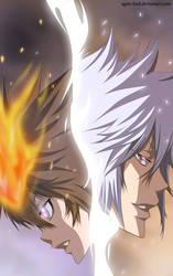 KHR: Tsuna and Byakuran by aagito