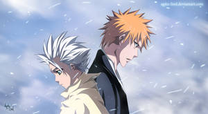 Bleach: Toshiro and Ichigo by aagito