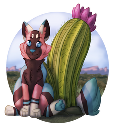 Cactus Flowers by MossclawArt