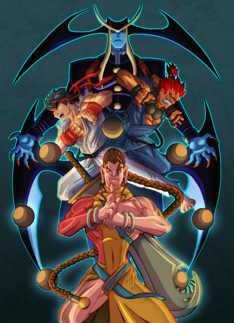 Street Fighter VS Darkstalkers by nfteixeira