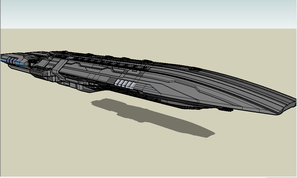 starship battleship by emppyrean