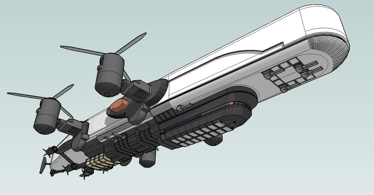 airship cruiser by emppyrean