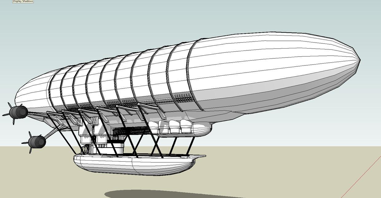 airship steampunk by emppyrean
