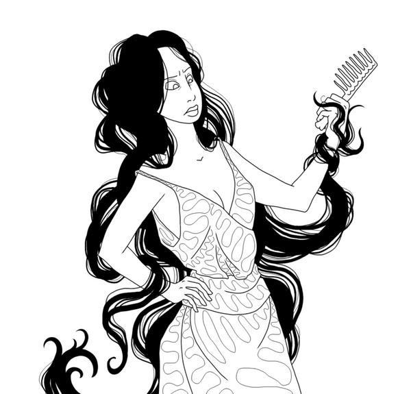 long hair style tips