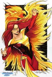 Dark Phoenix Colored by Arzeno