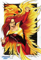 Dark Phoenix Colored by Arzeno