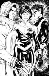 Three X-Men by Arzeno