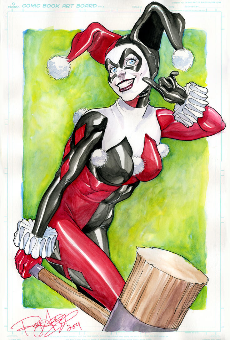 Harley Quinn -  Watercolored by Arzeno