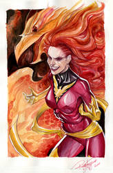 Dark Phoenix Watercolored