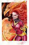Dark Phoenix Watercolored