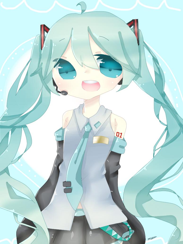 Hatsune Miku by Llamasrock123456