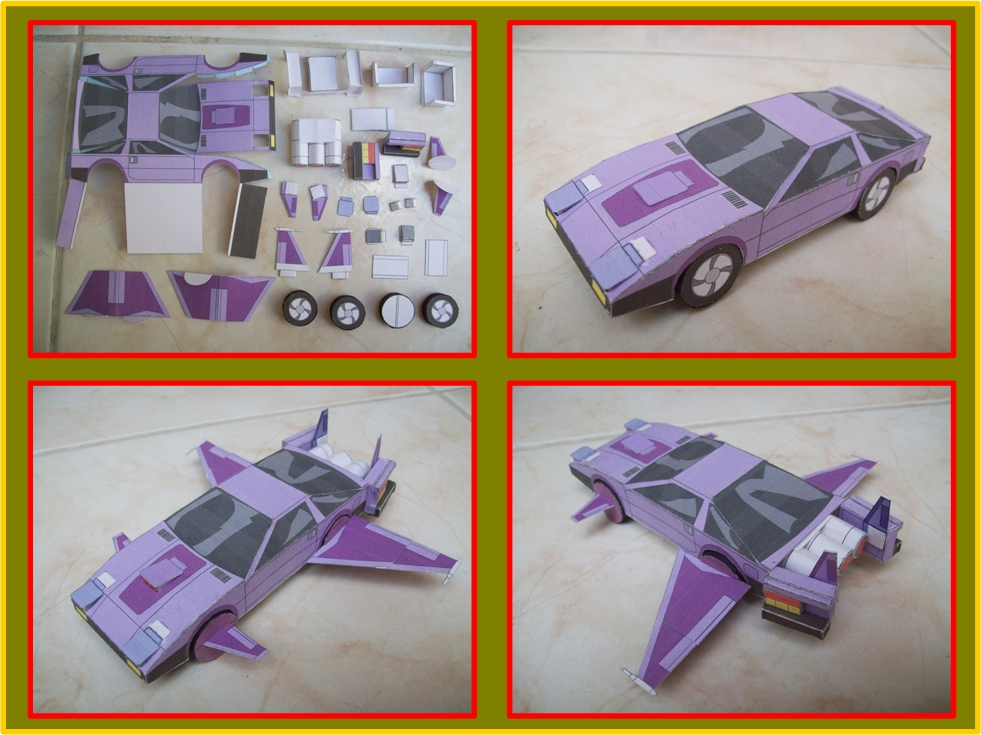 S K m a s k vehicles made from paper agents of m a s k