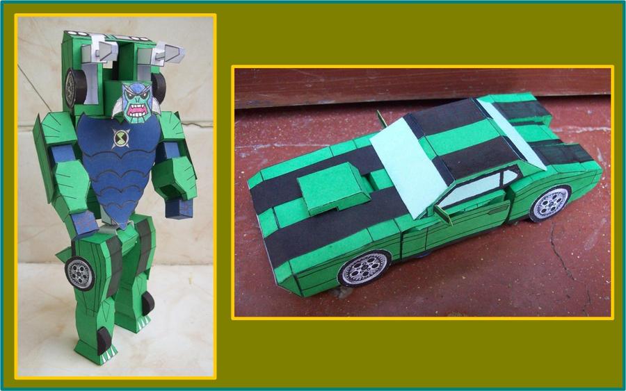 BEN10-ULTM-HUMUNGOSAURIO-transformer-de-cartulina by Paperman2010