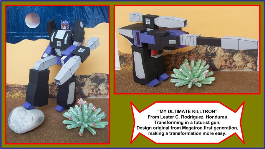 MY-KILLTRON-IN-CARDBOARD-TRANSFORMING-IN-LASER-GUN by Paperman2010