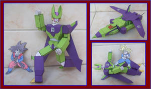 CELL-DE-DragonBallZ-ES-UN-TRANSFORMER-DE-CARTULINA by Paperman2010