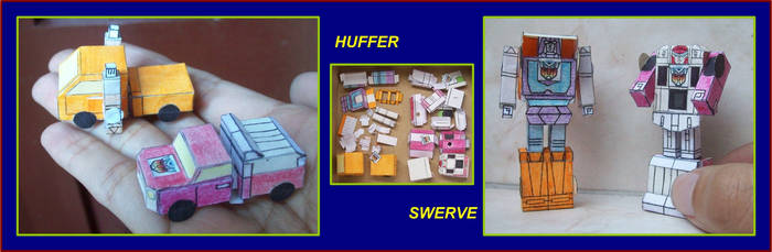 TINY-AUTOBOT-MINICARS-HUFFER-AND-SWERVE-IN-PAPER