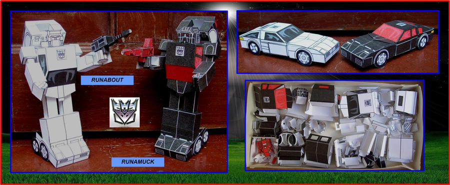 DECEPTICON-BATTLECHARGERS-IN-CARDBOARD by Paperman2010