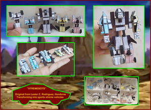 Los Nanoxtremebots hechos en Cartulina