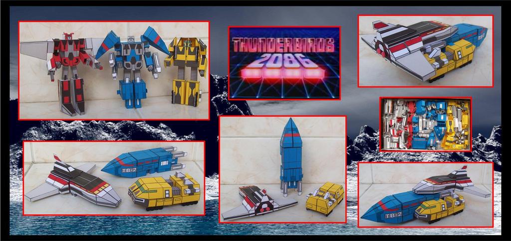 Los Thunderbirds2086 Son Transformers de Cartulina by Paperman2010