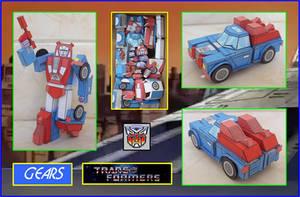 Autobot Minivehiculo Gears hecho en Cartulina