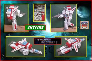 Autobot Skyfire Hecho En Cartulina