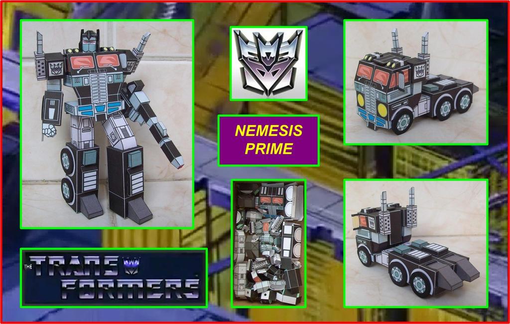 Decepticon Nemesis Prime hecho en Cartulina by Paperman2010