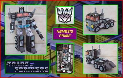 Decepticon Nemesis Prime hecho en Cartulina