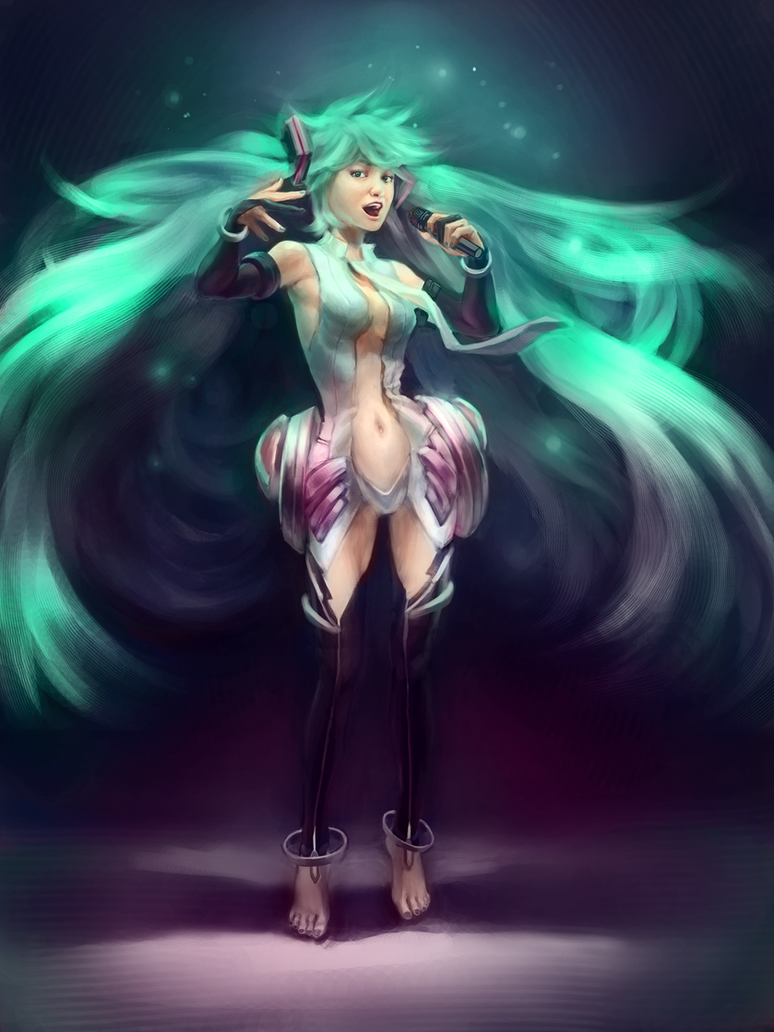 Realistic Miku by Butjok