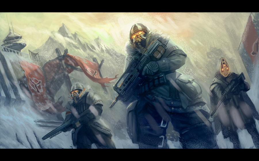Arctic troops by Butjok