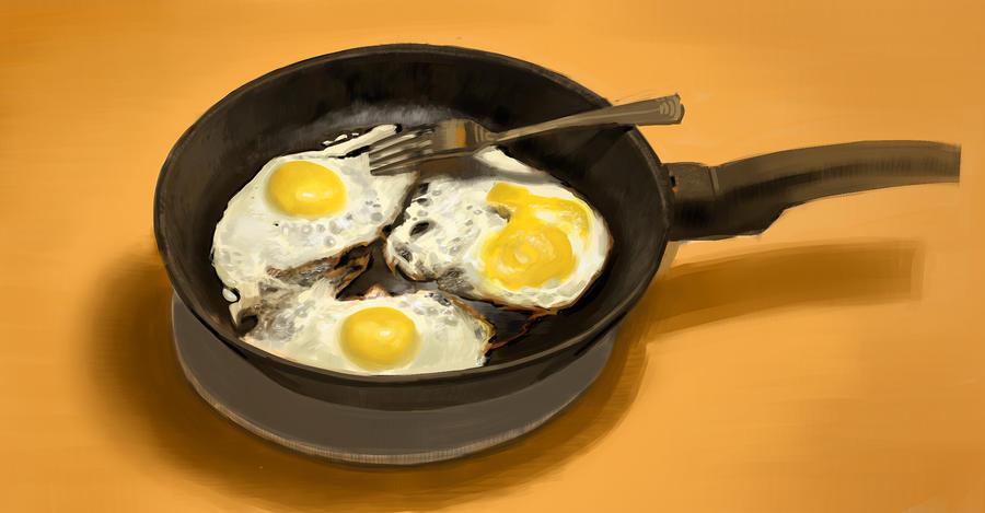 Scrambled eggs by Butjok