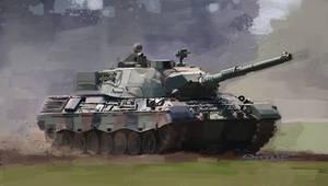 Leopard 1 Tank by Paperbag-Ninja