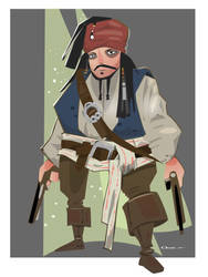 CAPTAIN Jack Sparrow by Paperbag-Ninja