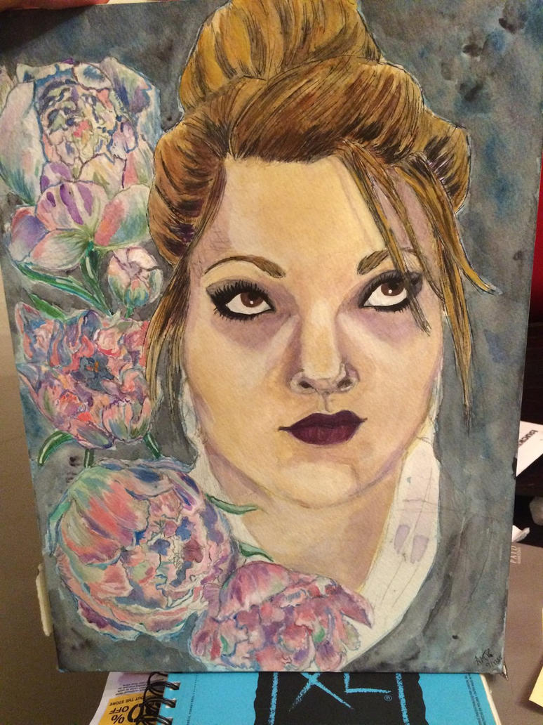 Peony-self portrait  by seraphic-whispers