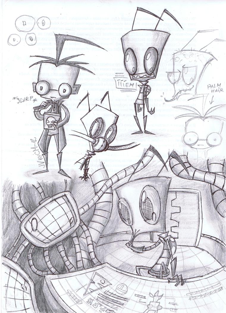 Zimmy-Dibby sketch stuff by KnockPainter