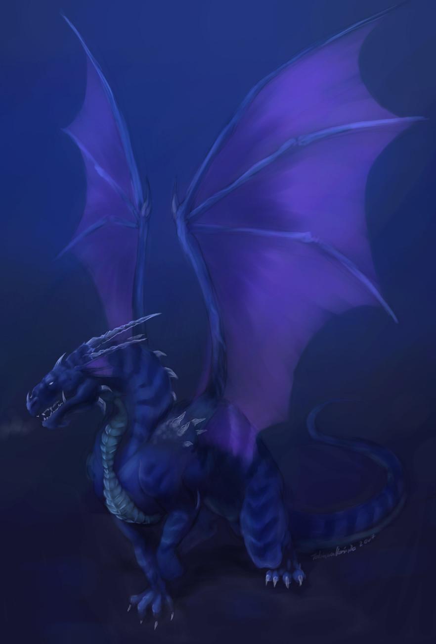Neron the Ice Dragon by riftryu
