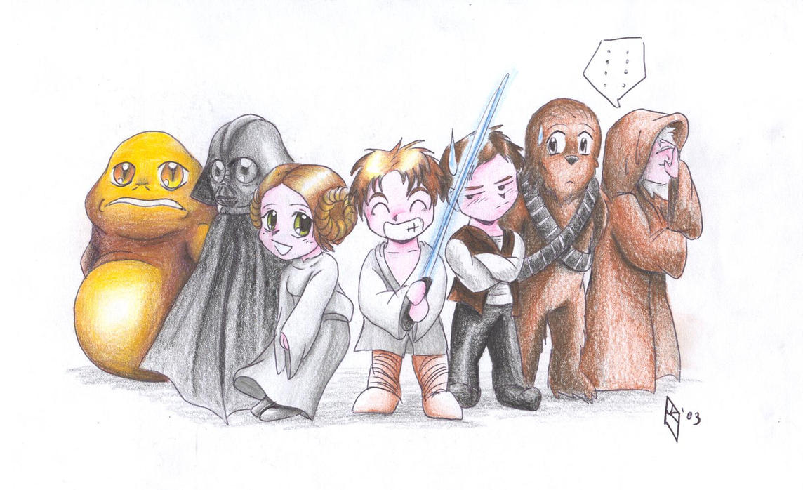 Chibi Star Wars by riftryu