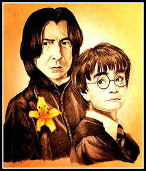 Severus Snape and Harry Potter by cheyluvsu03