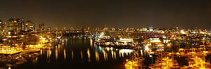 Vancouver at Night Panorama