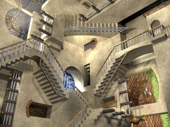 MC Escher Relativity Stairs by ICPJuggalo1988