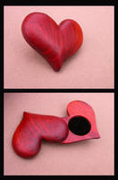 Heart shaped ring box by Tobesane
