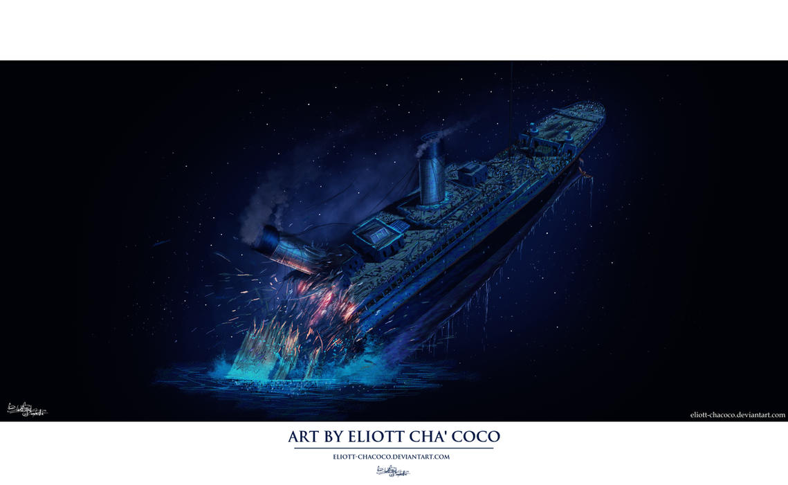 Titanic Breaking in Half by Eliott-Chacoco