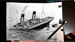 Titanic's final plunge