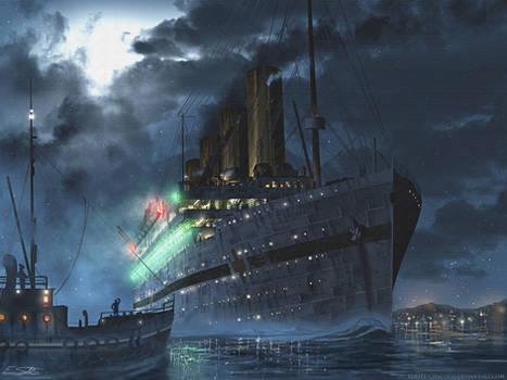 Britannic at night