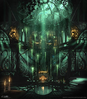 Slytherin Common Room by Eliott-Chacoco