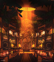 Hufflepuff Common Room by Eliott-Chacoco