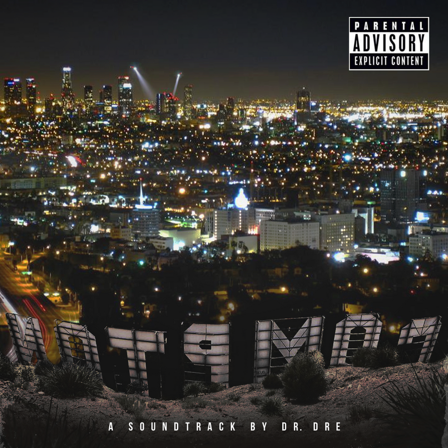 Dr Dre Compton alternate artwork with pa and text by PADYBU