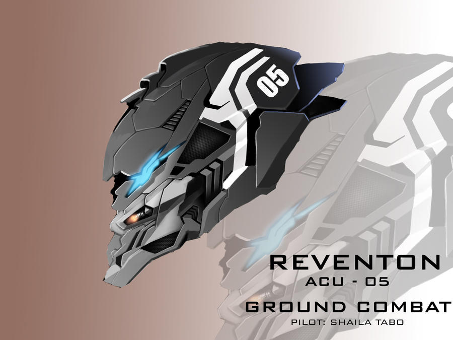 Mecha Head Concept: Reventon by bcetin