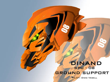 Mecha Head Concept: Dinand
